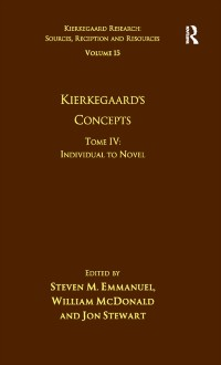 Cover Volume 15, Tome IV: Kierkegaard's Concepts