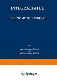 Cover Unbestimmte Integrale