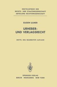 Cover Urheber- und Verlagsrecht