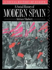 Cover Social History of Modern Spain