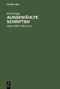 Cover Ausgewählte Schriften