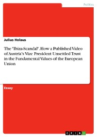 """Cover The """"Ibiza-Scandal"""". How a Published Video of Austria's Vize President Unsettled Trust in the Fundamental Values of the European Union"""