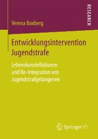 Cover Entwicklungsintervention Jugendstrafe