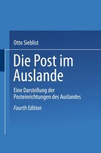 Cover Die Post im Auslande