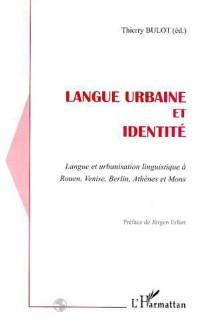 Cover LANGUE URBAINE ET IDENTITE