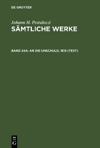 Cover An die Unschuld, 1815 (Text)