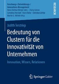 Cover Bedeutung von Clustern für die Innovativität von Unternehmen