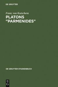"""Cover Platons """"Parmenides"""""""