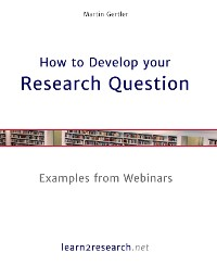 Cover How to Develop your Research Question