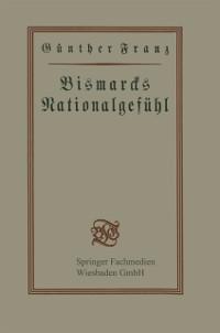 Cover Bismarcks Nationalgefuhl