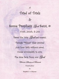Cover Triad of Trials & Some Prophets God Sent