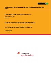 Cover Studien zum deutsch-brasilianischen Recht