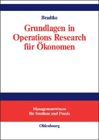 Cover Grundlagen in Operations Research für Ökonomen