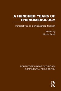Cover Hundred Years of Phenomenology