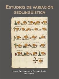 Cover Estudios de variación geolingüística