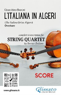 Cover L'Italiana in Algeri (overture) String Quartet - Score