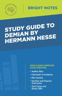 Cover Study Guide to Demian by Hermann Hesse