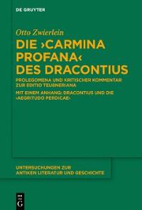 """Cover Die """"Carmina profana"""" des Dracontius"""