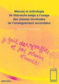 Cover Manuel et anthologie de littérature belge à l'usage des classes terminales de l'enseignement secondaire