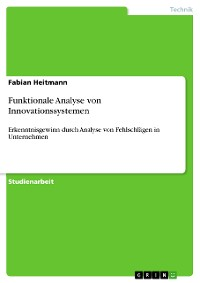 Cover Funktionale Analyse von Innovationssystemen