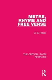Cover Metre, Rhyme and Free Verse