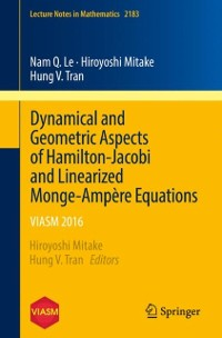 Cover Dynamical and Geometric Aspects of Hamilton-Jacobi and Linearized Monge-Ampere Equations