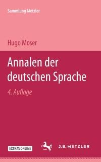 Cover Annalen der deutschen Sprache von den Anfangen bis zur Gegenwart