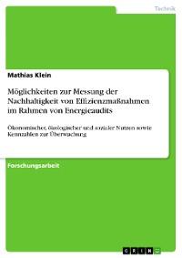 Cover Möglichkeiten zur Messung der Nachhaltigkeit von Effizienzmaßnahmen im Rahmen von Energieaudits