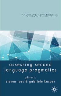Cover Assessing Second Language Pragmatics