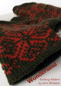 Cover Wonderland Colorwork Wrist Warmers Knitting Pattern