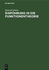 Cover Einführung in die Funktionentheorie
