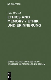 Cover Ethics and Memory / Ethik und Erinnerung