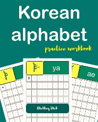 Cover Korean Alphabet Handwriting