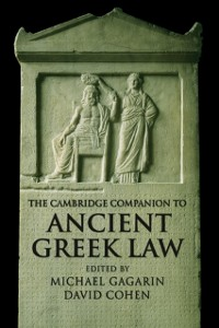 Cover Cambridge Companion to Ancient Greek Law