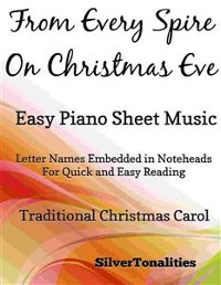 Cover From Every Spire on Christmas Eve Easy Piano Sheet Music