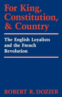 Cover For King, Constitution, and Country