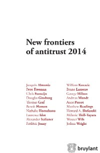 Cover New frontiers of antitrust 2014