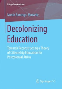 Cover Decolonizing Education