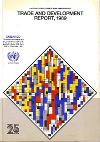 Cover Trade and Development Report 1989