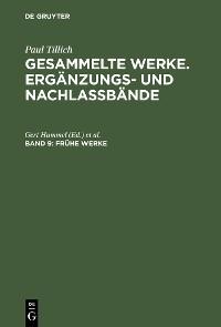 Cover Frühe Werke