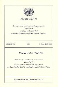 Cover Treaty Series 2362/Recueil des Traités 2362