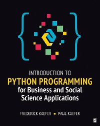 Cover Introduction to Python Programming for Business and Social Science Applications