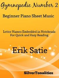 Cover Gymnopedie Number 2 Beginner Piano Sheet Music