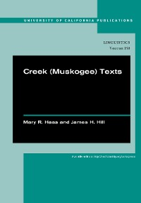 Cover Creek (Muskogee) Texts