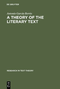 Cover A Theory of the Literary Text