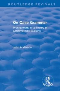 Cover On Case Grammar
