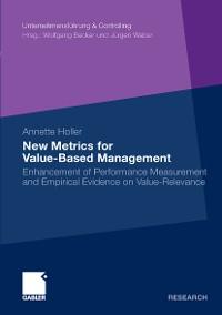 Cover New Metrics for Value-Based Management