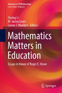 Cover Mathematics Matters in Education