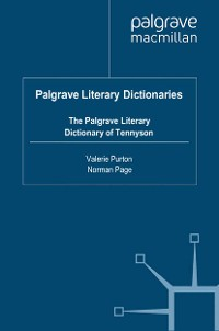Cover The Palgrave Literary Dictionary of Tennyson