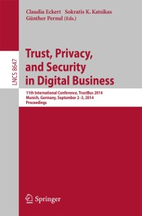 Cover Trust, Privacy, and Security in Digital Business